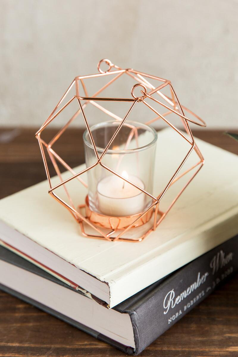 Copper Geo Votive Holder-  gift-clalternate