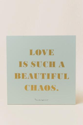 Bloomingville, Love is Such Beautiful Chaos Wood Wall Decor