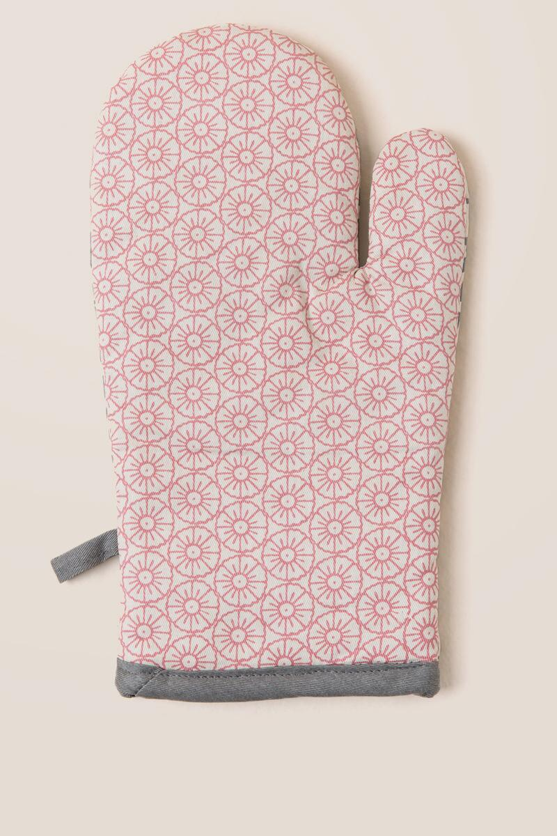 Bloomingville Grey and Blush Oven Mitt