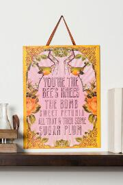 Bees Knees Medium Wall Sign