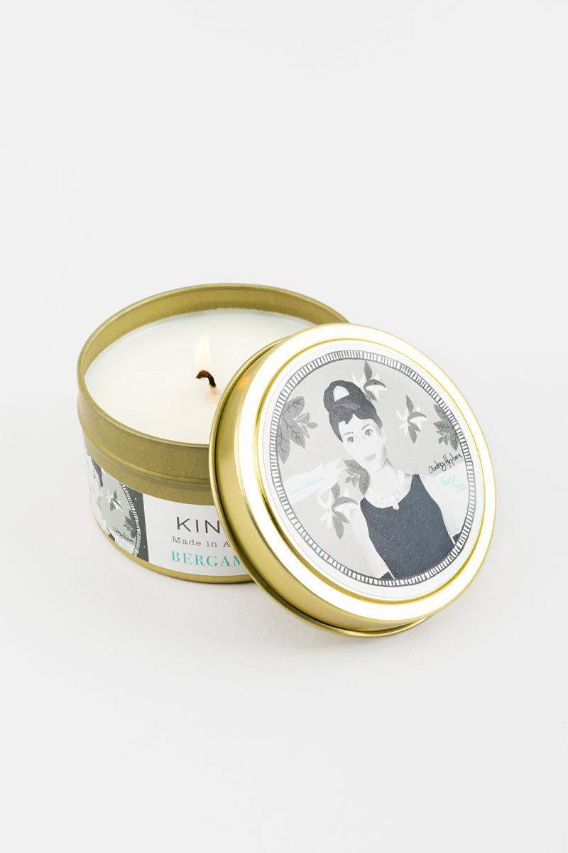 Icon Collection Candle Tin | Audrey Hepburn | 6 oz- Multi