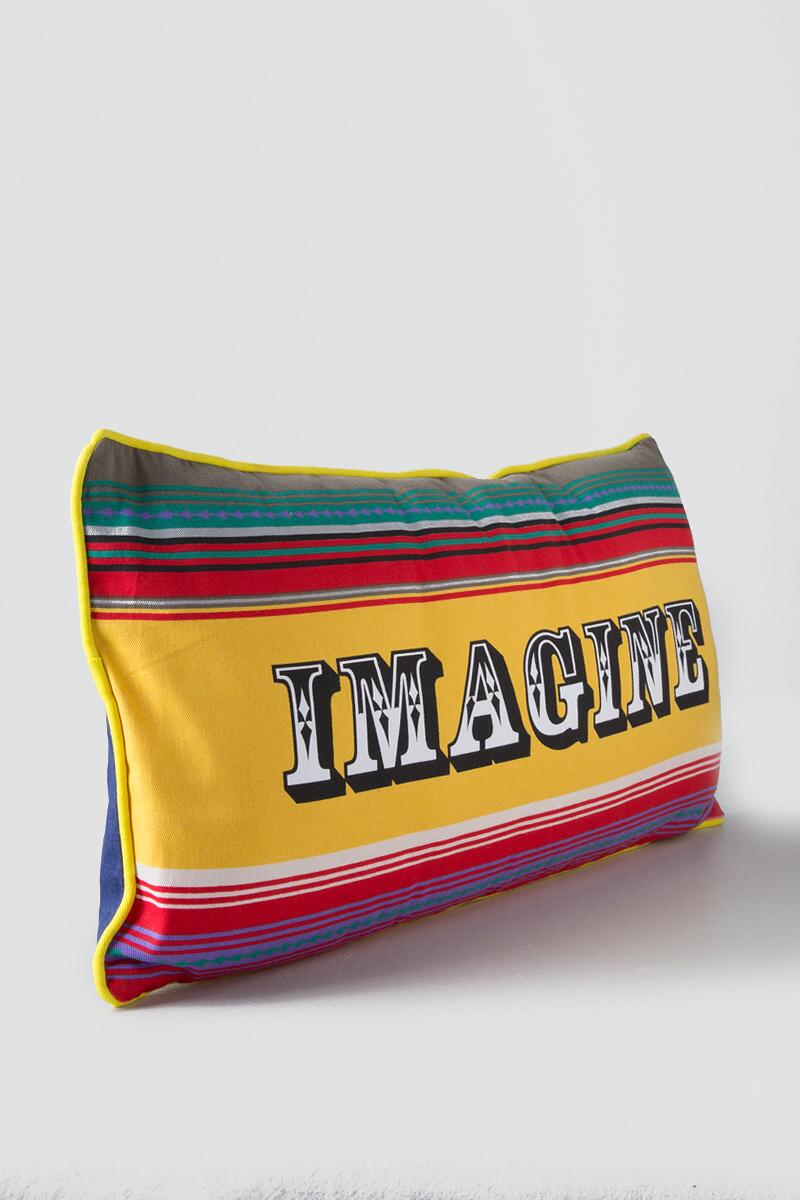 Imagine Colorful Stripe Pillow-  gift-cl
