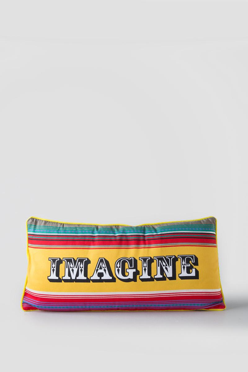 Imagine Colorful Stripe Pillow-  gift-clalt
