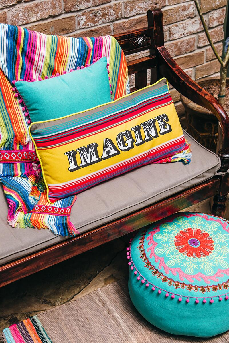 Imagine Colorful Stripe Pillow-  gift-cllifestyle