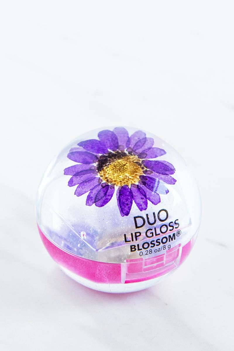 Blossom Duo Lip Gloss in Purple-  gift-cl