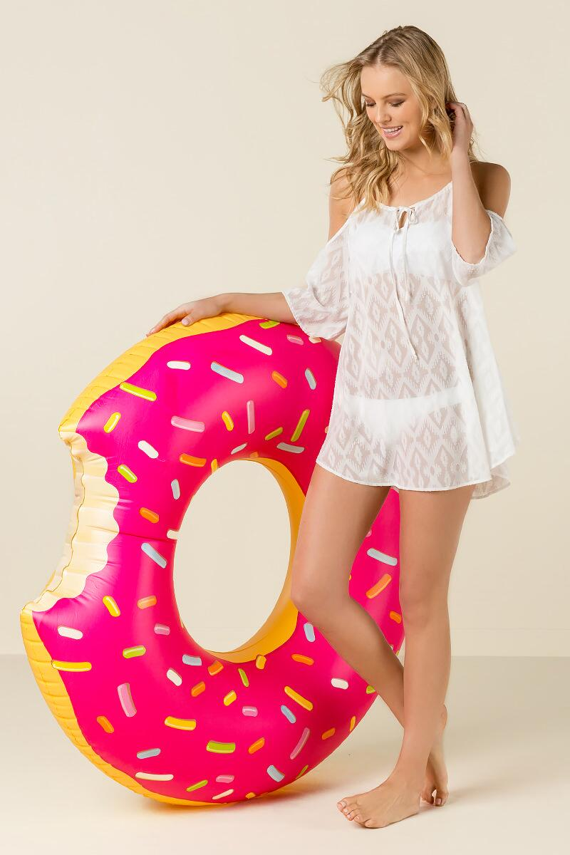 Giant Pink Donut Pool Float-  gift-clalternate