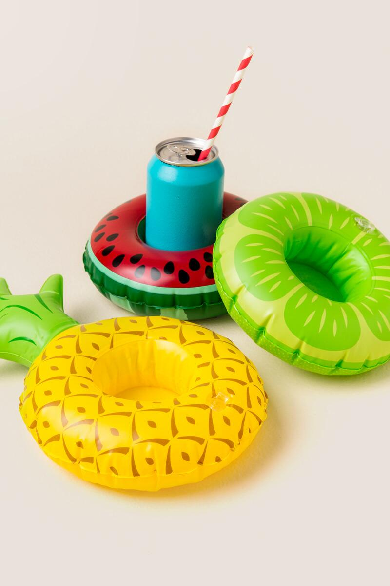 Fruit Drink Holder Pool Float Set-  gift-cl