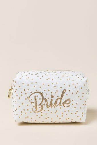 Bride Polka Dot Cosmetic Pouch