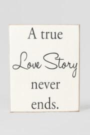 Love Story 6x7.5 Plaque