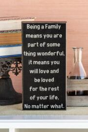 Being a Family 14x28 Plaque