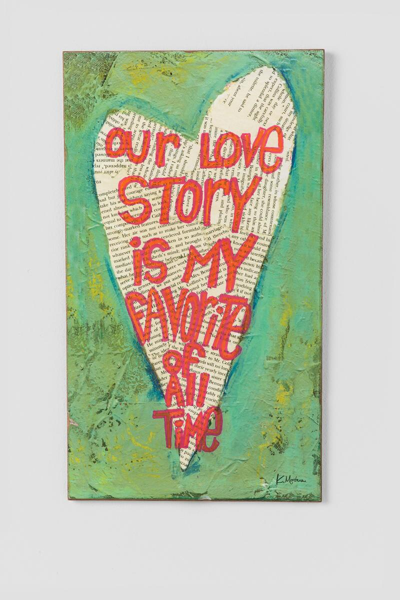 Green Our Love Story Wall Decor