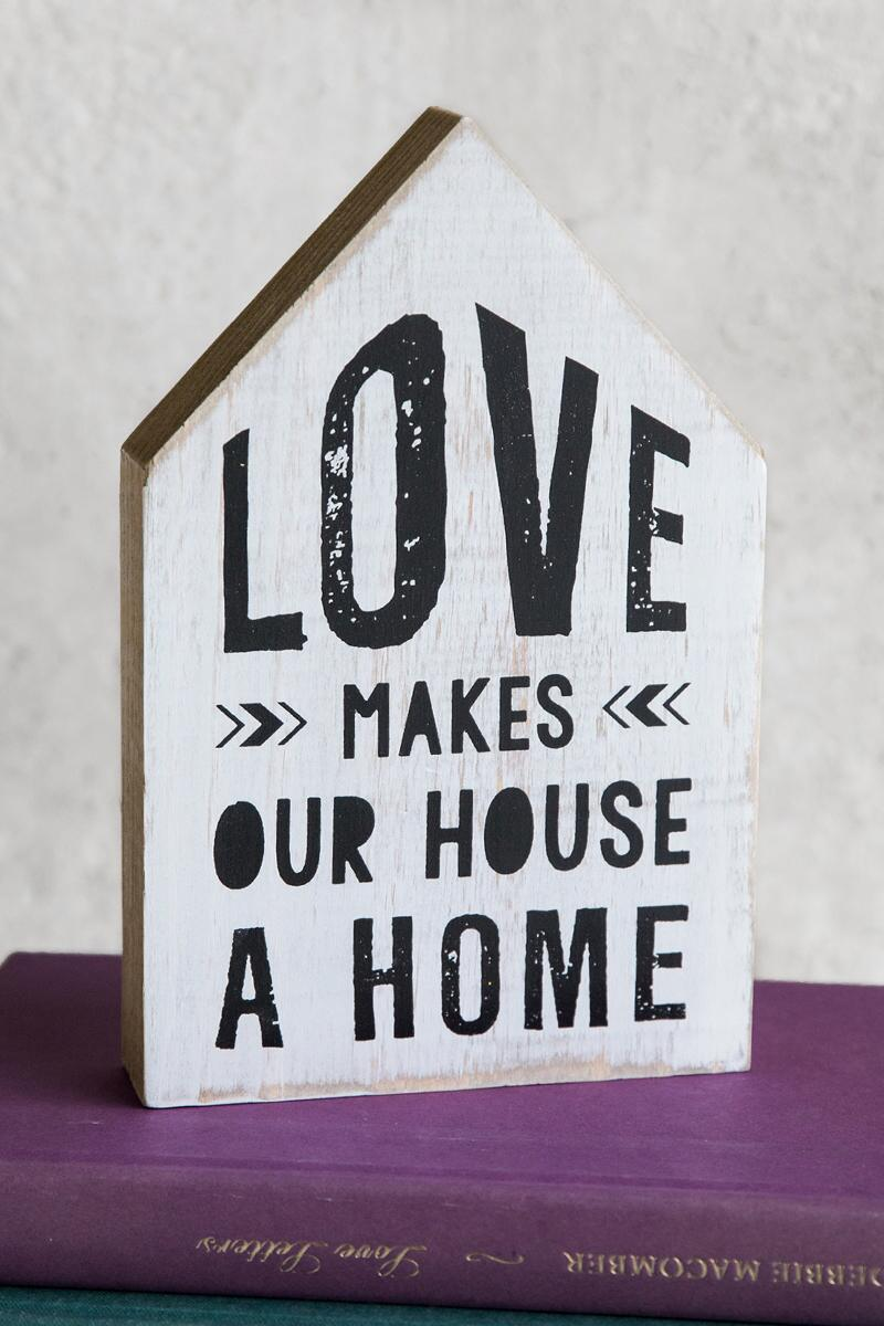 Love Makes Home Box Sign