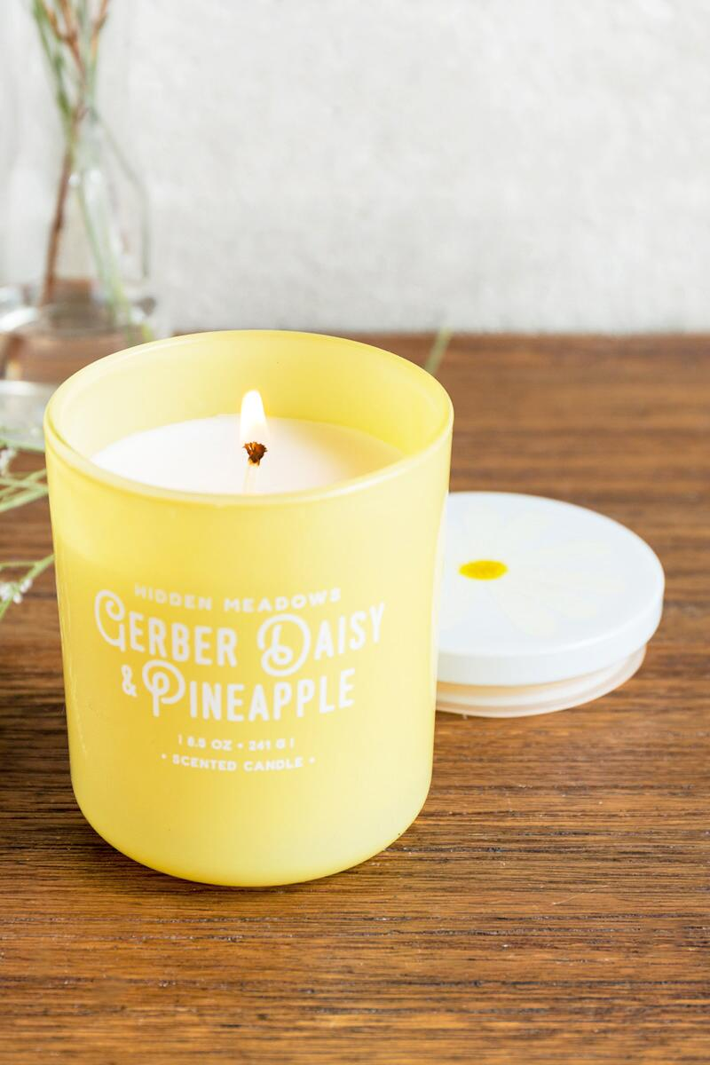 Blooming Yellow Gerber Daisy Candle- Yellow gift-clalternate