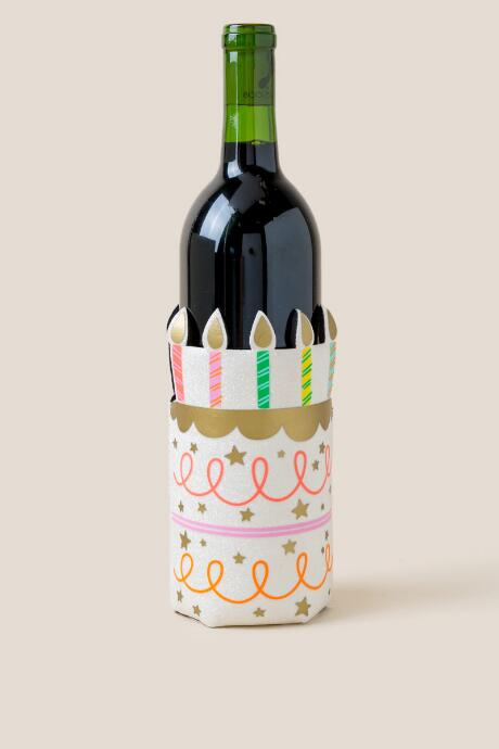Birthday Cake Wine Bottle Coozie