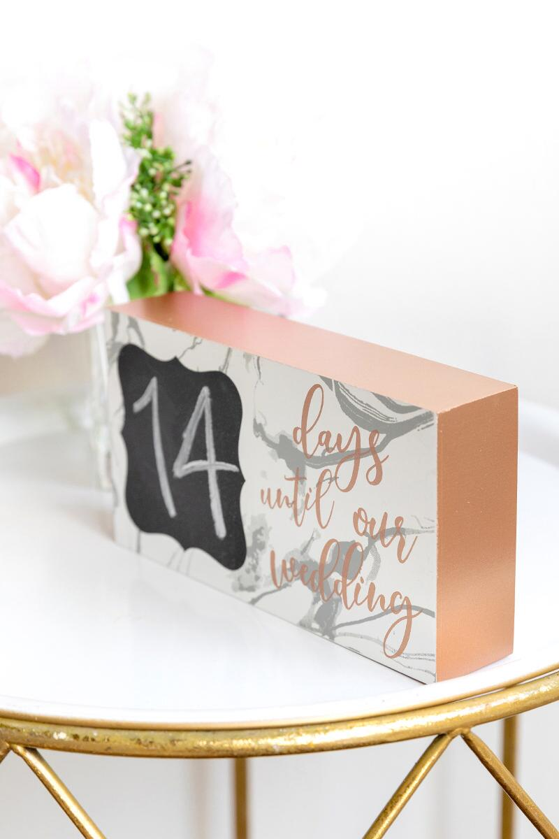 Count Down Box Sign-  rgold-cl2
