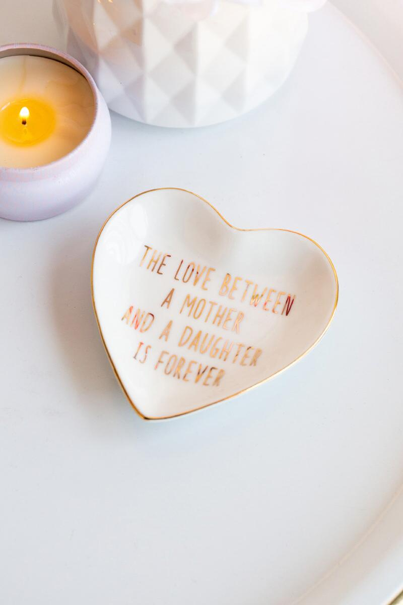 Love Mother Trinket Dish-  gold-cl