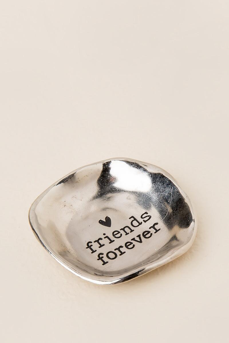 Friends Forever Silver Trinket Dish