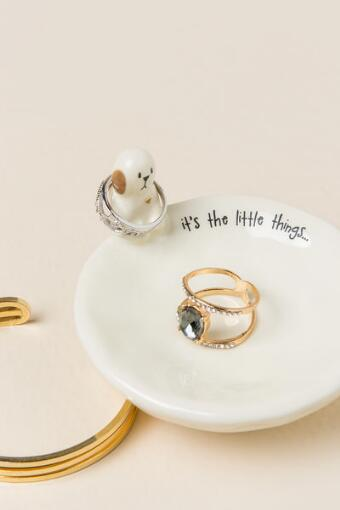 It's The Little Things Dog Trinket Bowl