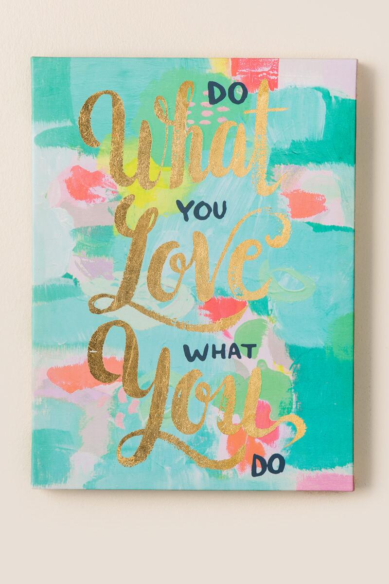 Do What You Love Canvas Wall Decor