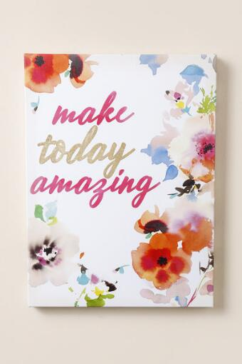 Make Today Amazing Floral Canvas Wall Decor