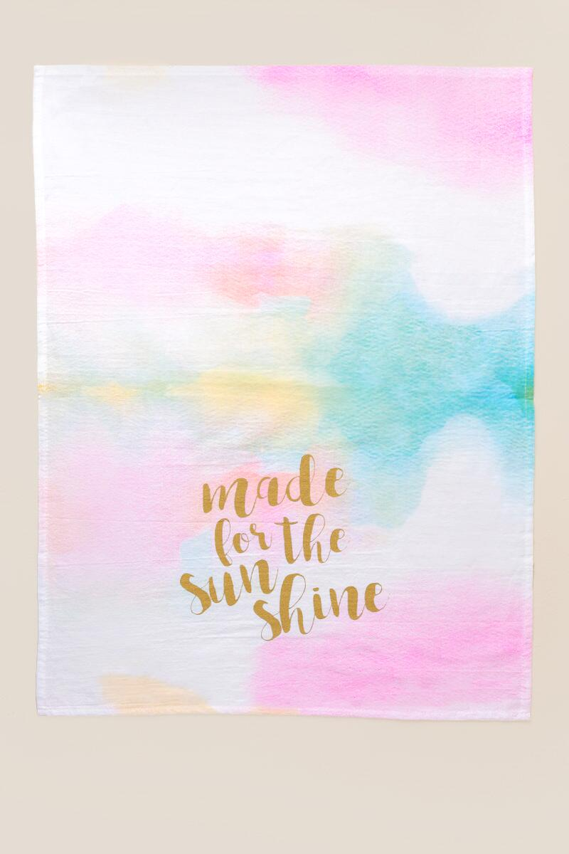 Made For Sunshine Tea Towel-  gift-clalternate