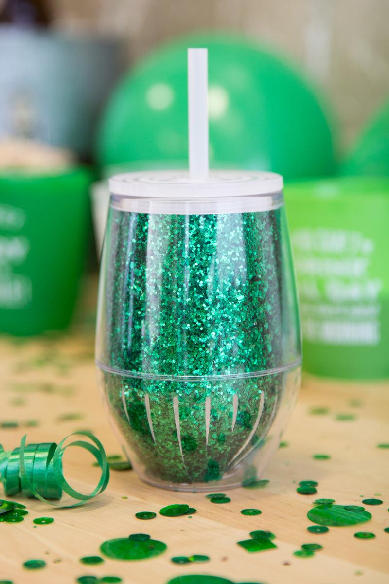 Travel Stemless Wine Cup in Green