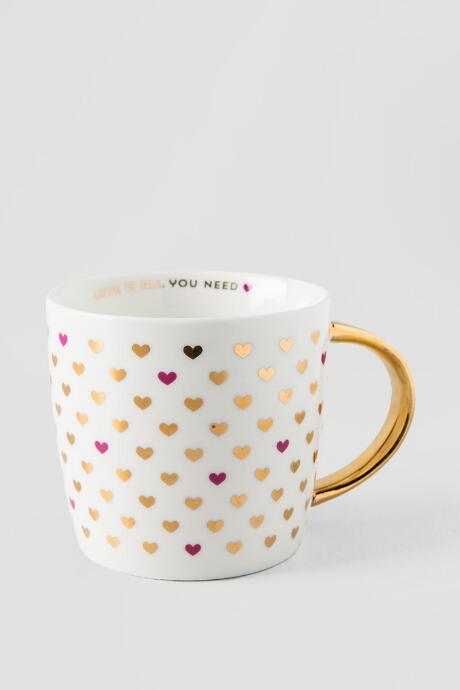 Gold Love Is All You Need Heart Mug