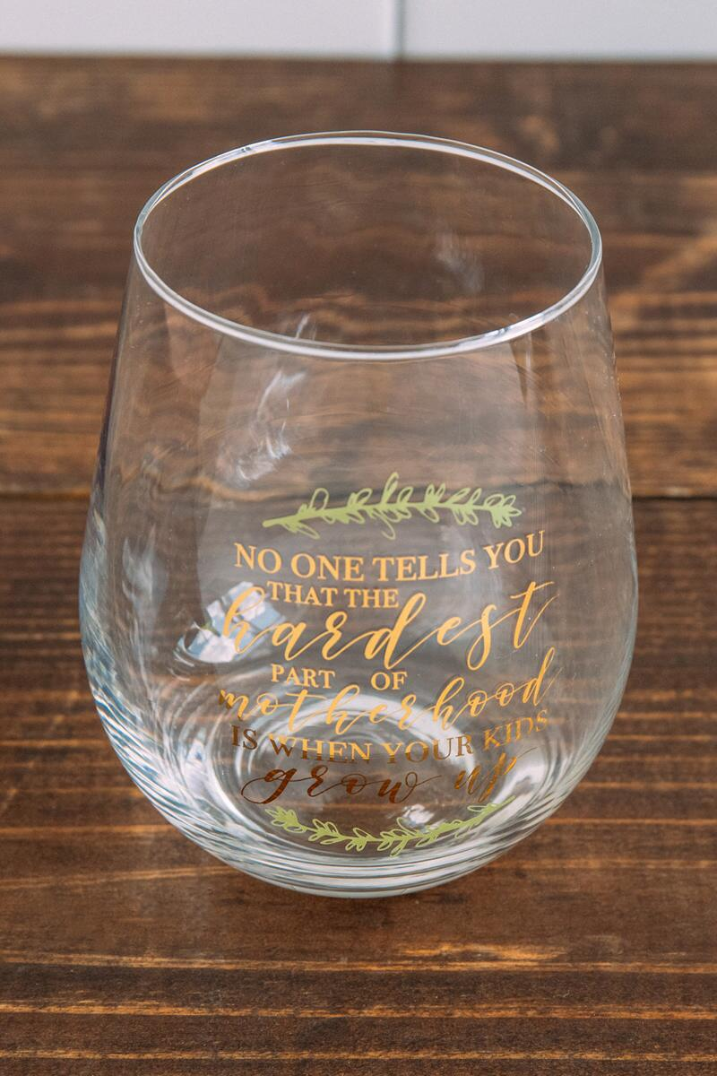 Motherhood Stemless Wine Glass