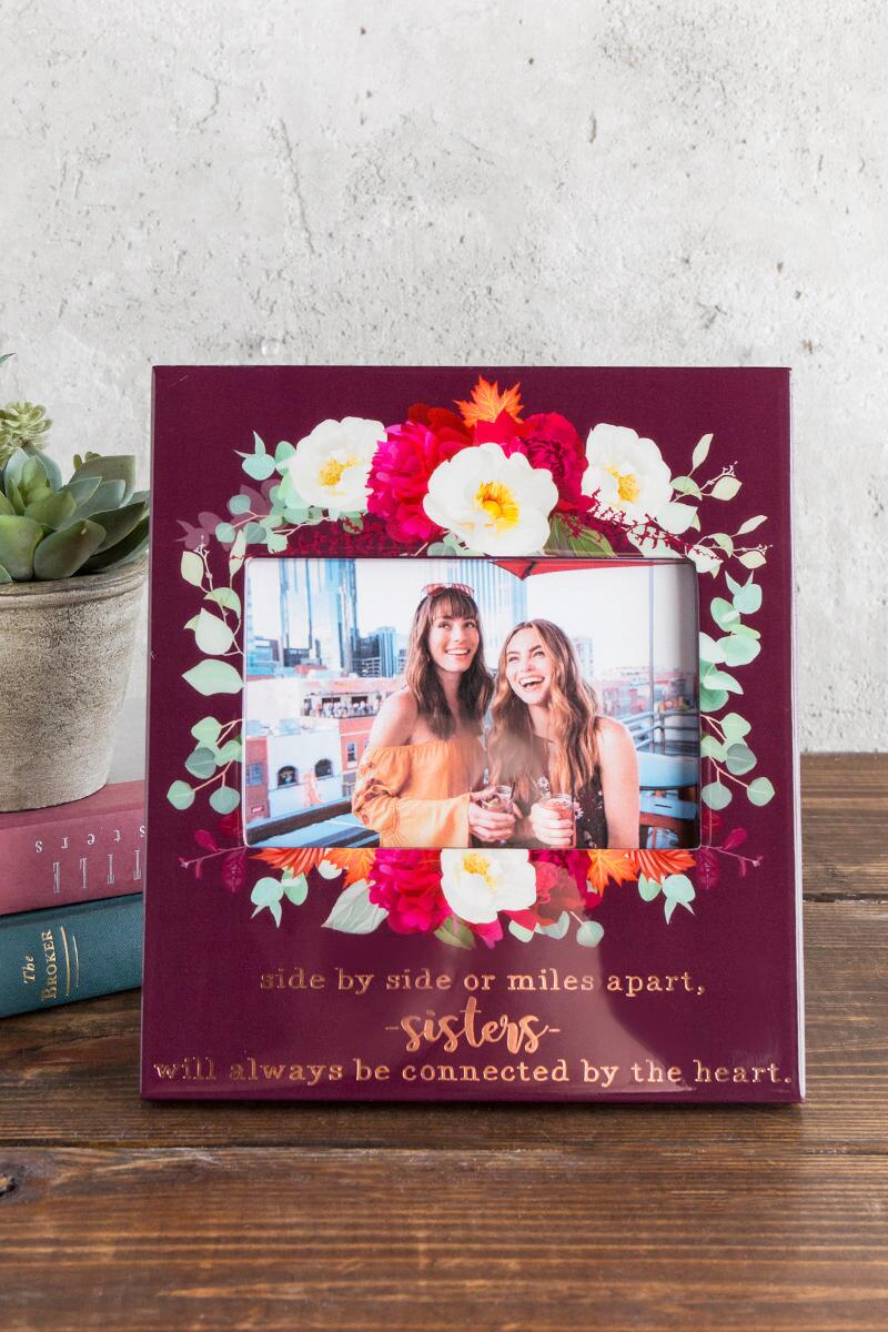 Sisters Floral Frame 4x6