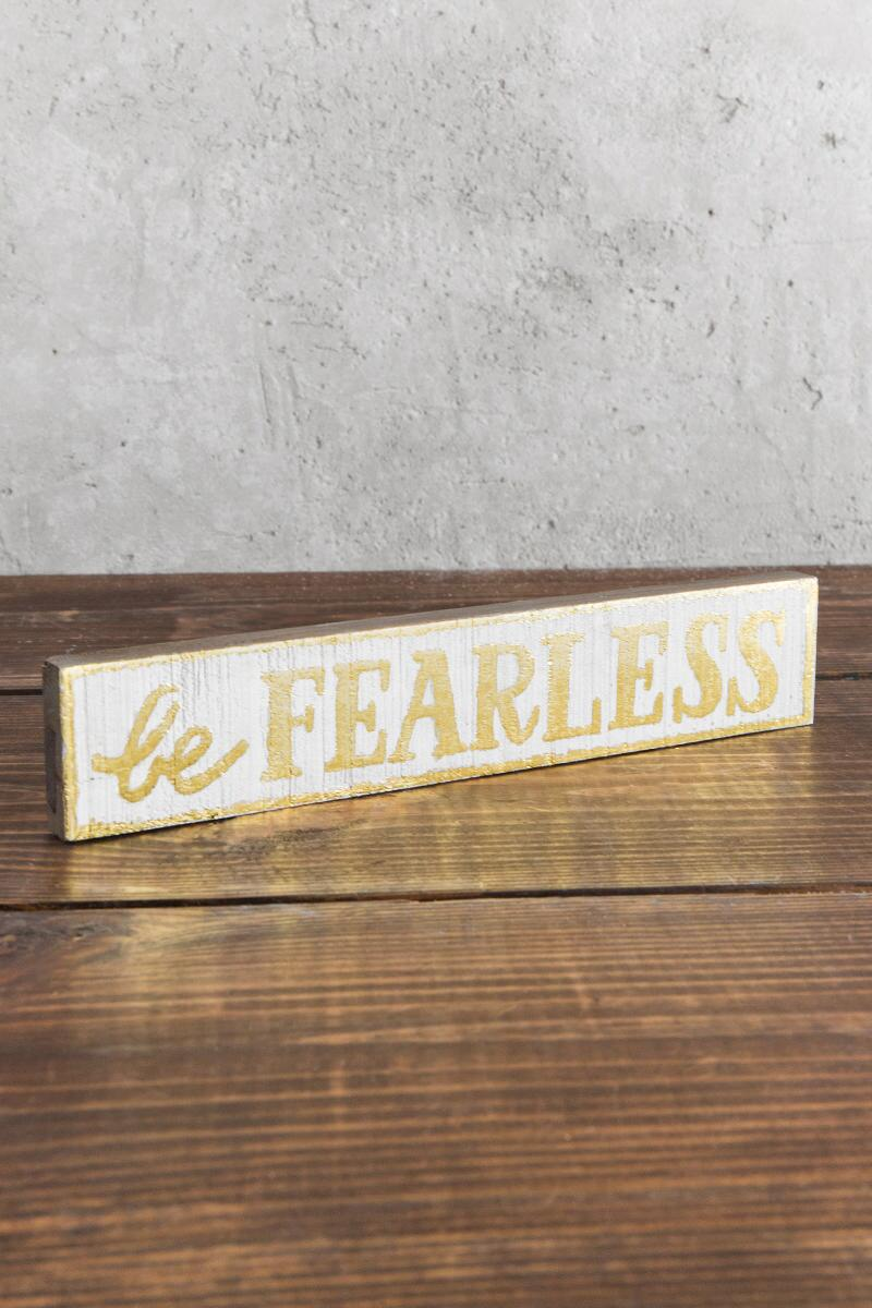 Give Back Collection: Be Fearless Skinny Wall Decor-  gift-clalternate