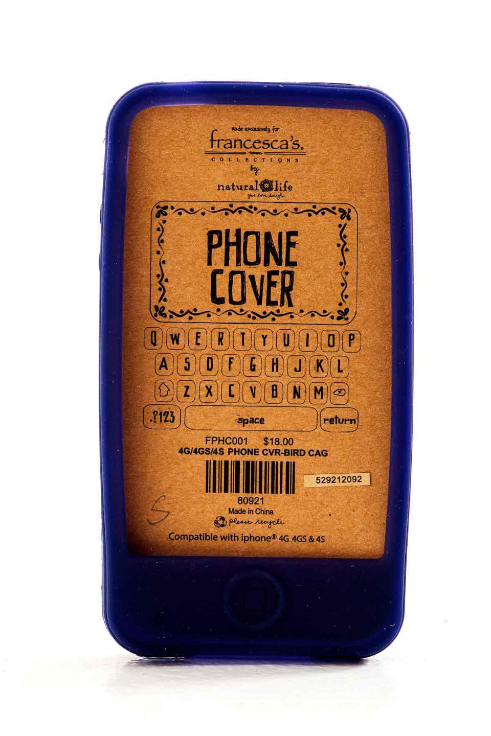 Natural Life Bird Cage iPhone 4 Cover-  gray-cldetail