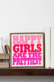 Happy Girls Small Wall Art