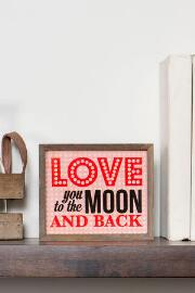 Moon and Back Mini Wall Sign