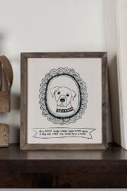 Framed Golden Retriever Mini Wall Art