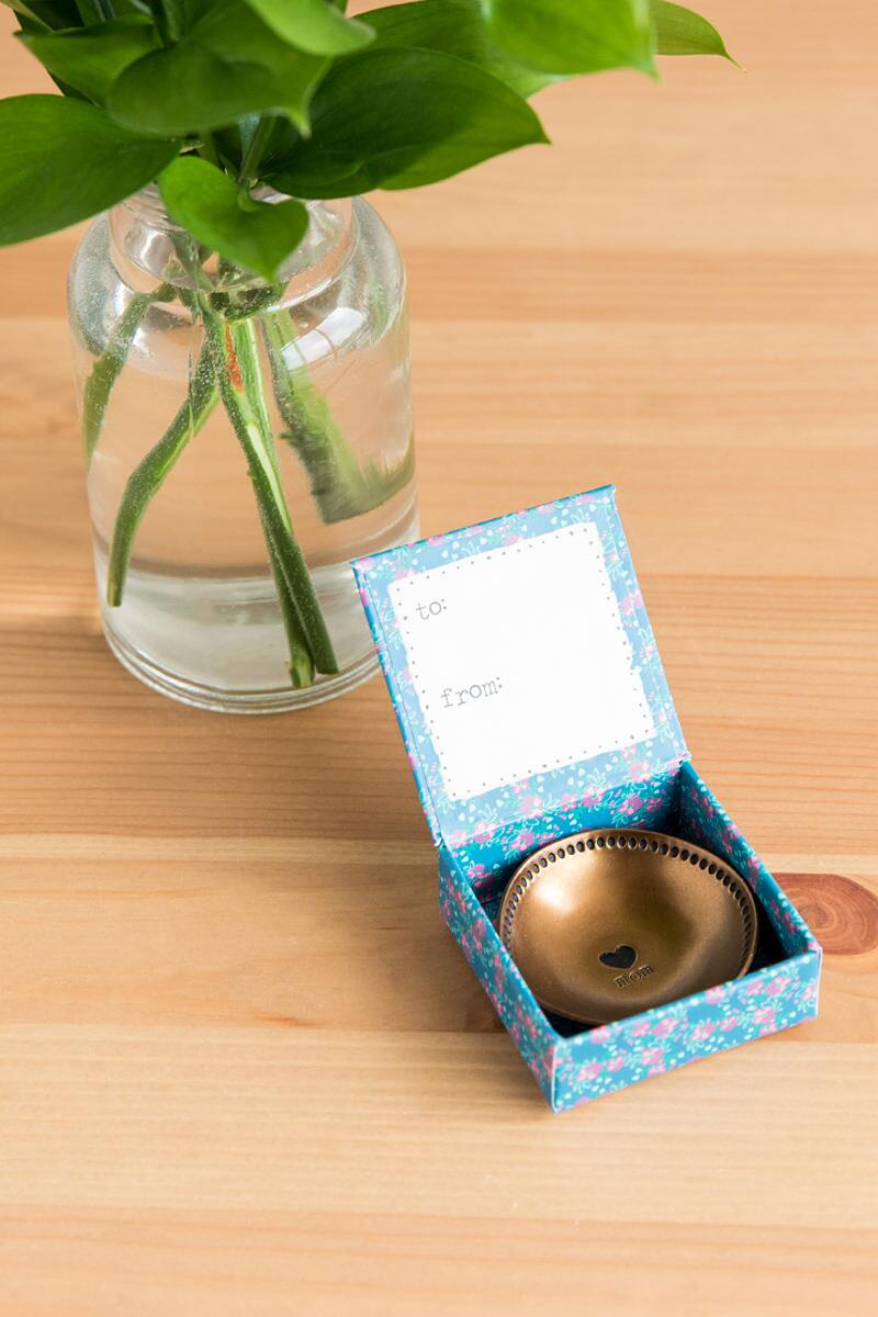 Mom Heart Copper Dish-  gift-cl