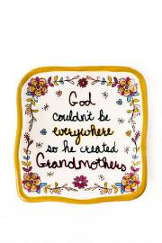 Why God Created Grandmothers Trinket Dish