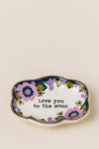 Love You To The Moon Small Artisan Trinket Dish