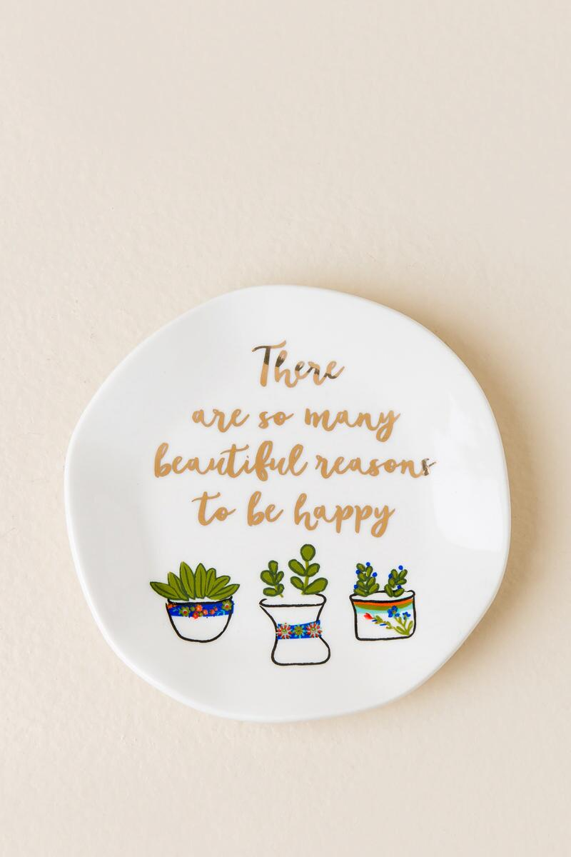 So Many Reasons To Be Happy Succulent Trinket Tray