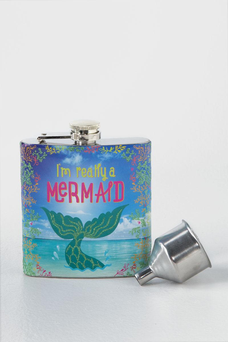 I'm Really A Mermaid Flask