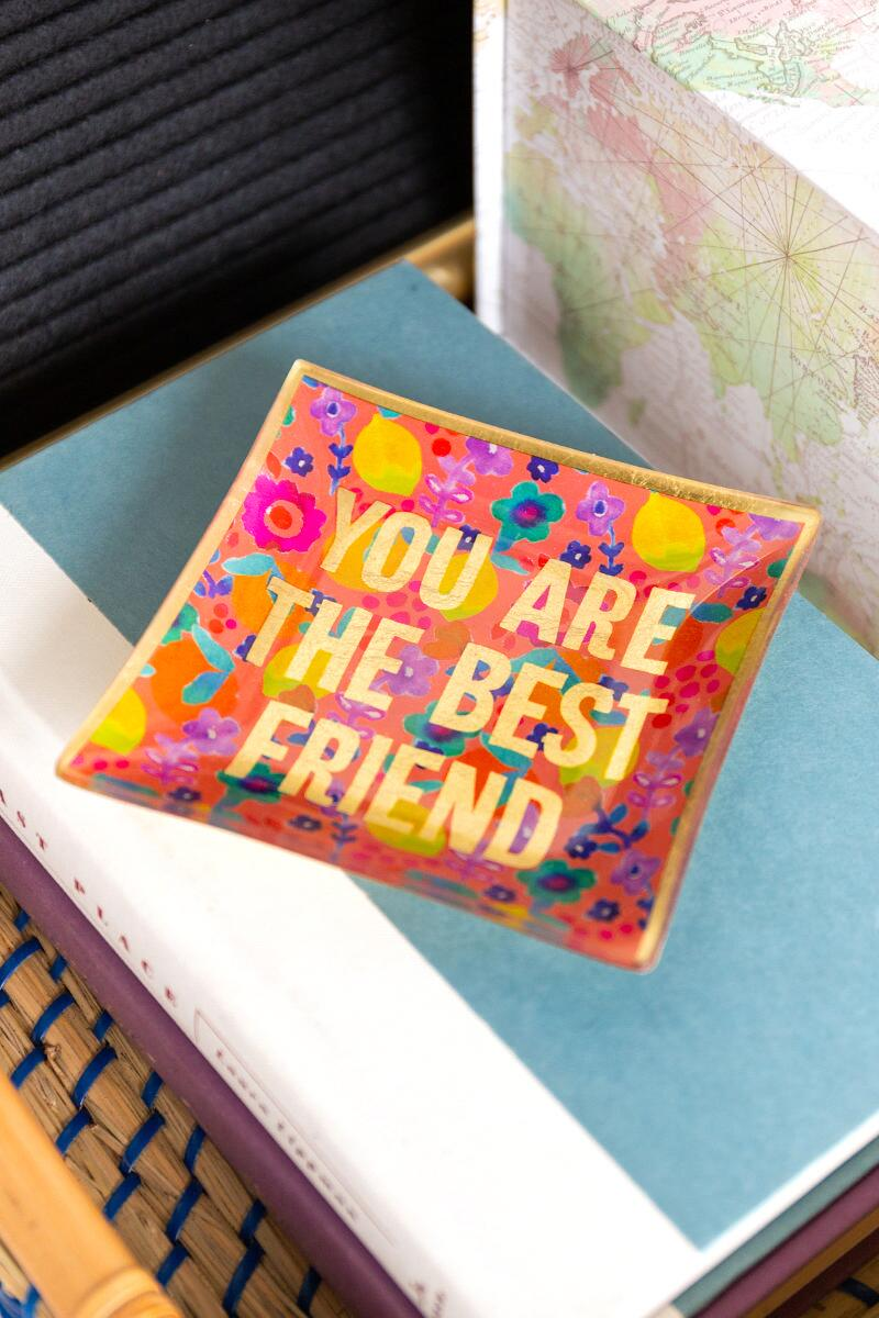 Best Friend Glass Tray-  org-cl