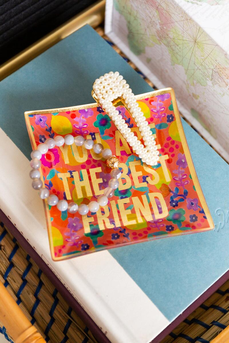 Best Friend Glass Tray-  org-cl2