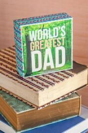 World's Greatest Dad Canvas Wall Art