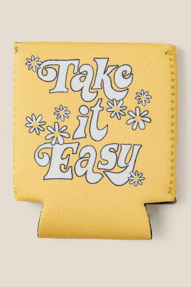 Take it Easy Daisy Koozie-  gift-cl