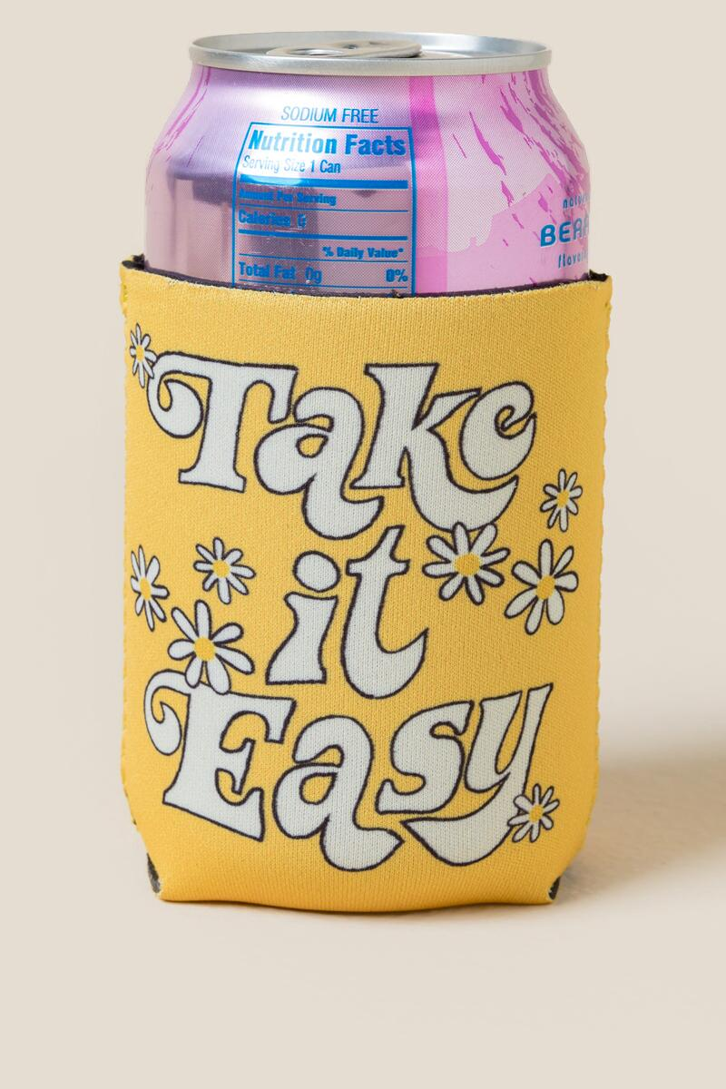 Take it Easy Daisy Koozie-  gift-cl2
