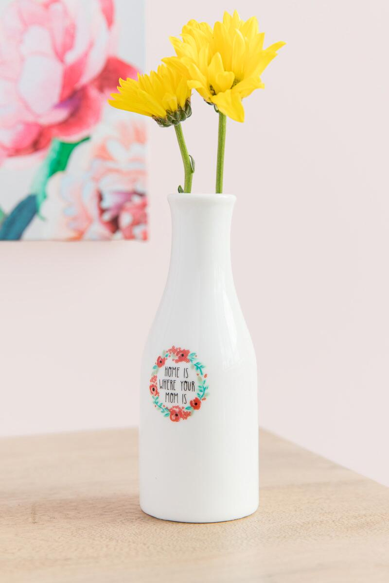 Home is Where Your Mom Is Mini Vase-  gift-cllifestyle