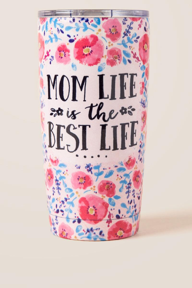 Mom Life Best Life Stainless Tumbler-  gift-cl