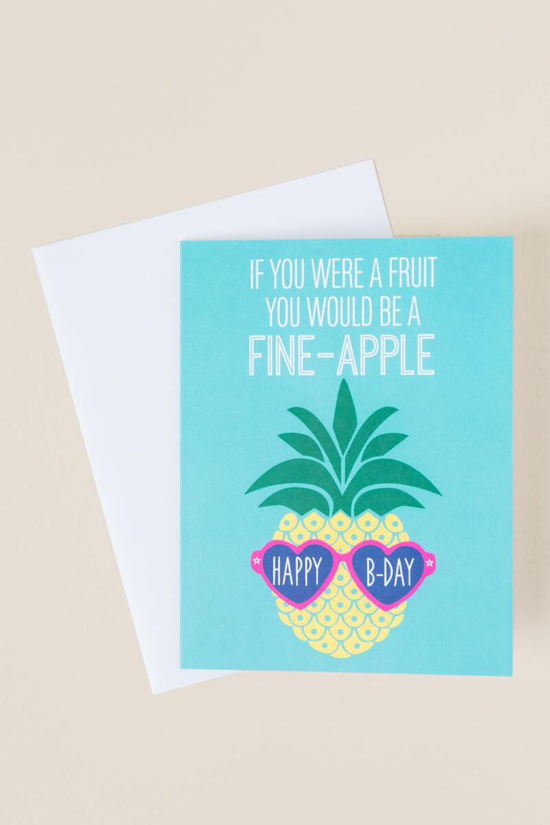 Fine Apple Birthday Card-  gift-cl