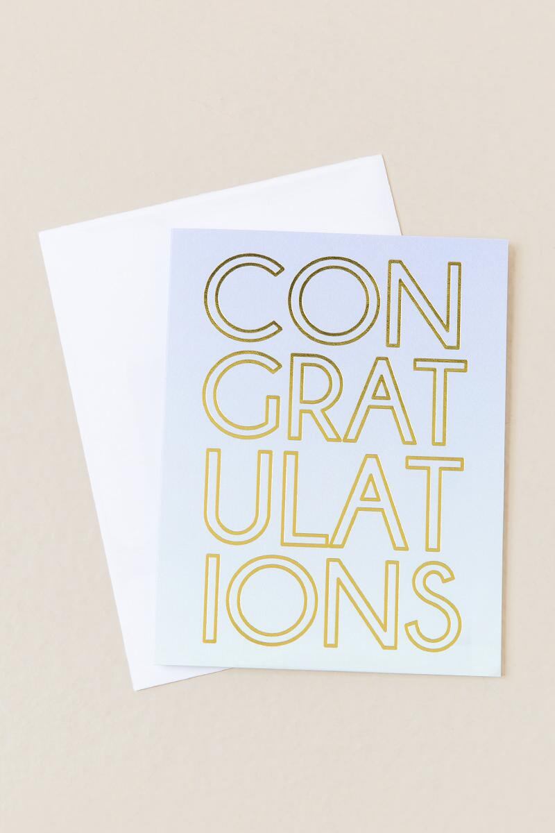 Congratulations Card-  gift-cl