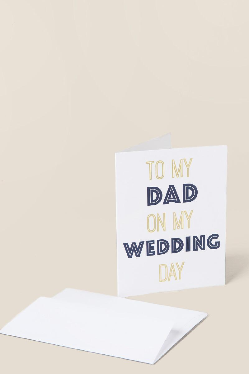 To My Dad Wedding Day Card-  gift-cl