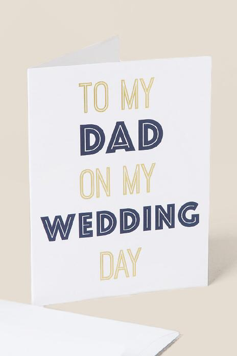 To My Dad Wedding Day Card-  gift-clalternate
